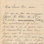 Jeanne 3 janvier 1918 : J'avais peur qu'il te soit arrivé quelque chose.