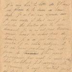 Jeanne 5 mai 1918 : comme nous n'avons pas de lumière je n'ai pu écrire.