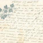 Jeanne 20 avril 1917 : aujourd'hui il n'y a eu aucune correspondance pour personne.
