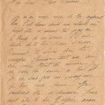 Jeanne 22 juillet 1918 : J'espère avoir de tes nouvelles.