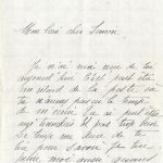 Jeanne 27 juillet 1917 : Elle aime bien son Papa et y pense souvent.