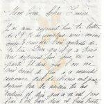 Jeanne 2 août 1917 : Dire qu'il y a trois ans aujourd'hui que tu es parti.