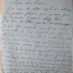 Jeanne 10 novembre 1915 : Pour le travail j'attends que l'on me fasse appeler
