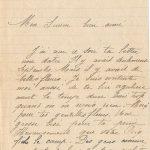 Jeanne 26 septembre 1917 : Peut-être tu viendras la semaine prochaine.