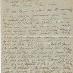 Jeanne 19 octobre 1917 : les lettres ne sont pas encore arrivées.