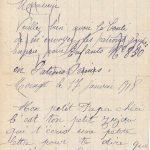 Jeanne le 17 janvier 1918 : Décidément on ne sait plus comment l'on vit.
