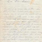 Jeanne 2 juin 1915 : elle regrette celui que nous avons perdu