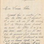Jeanne 18 avril 1918 : ce soir il essaye de faire de la neige.