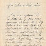 Jeanne 20 avril 1918 : La correspondance marche très mal.