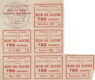 La carte de sucre est d finitivement institu e - Collectionneur de sucre ...