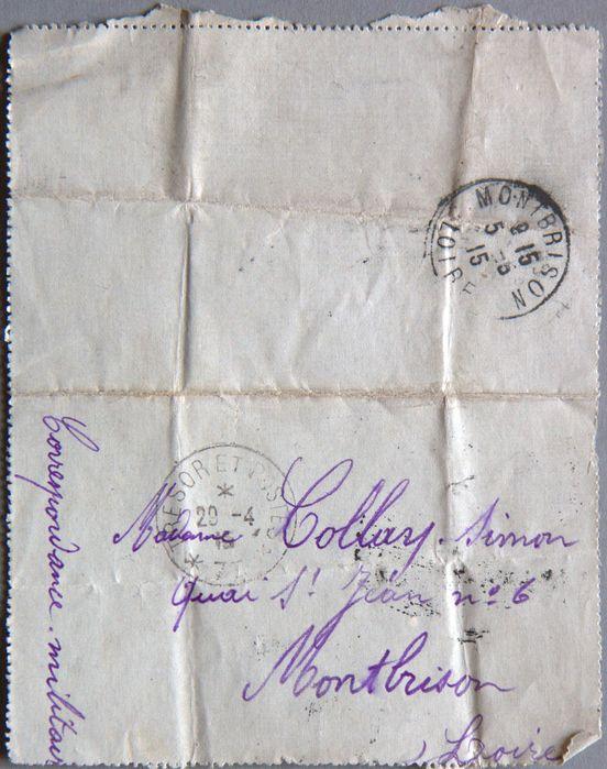 Adresse de Jeanne Collay