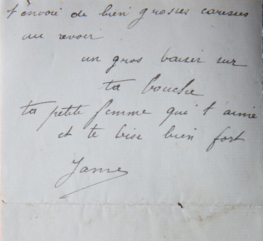 Message d'amour de fin de lettre