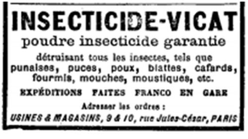 Poudre insecticide