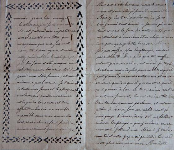 Tu m'écriras une lettre bien tendre pour me pardonner et m'empêcher de devenir fou