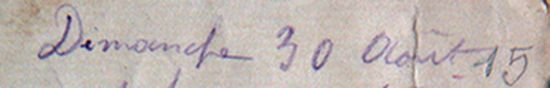 daté de 1915
