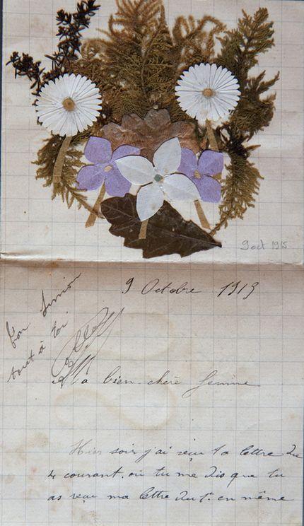 Le courrier marche mal en ce mois d'octobre 1915