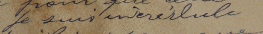 Mot difficile à lire sur la lettre du 4 mai 1916
