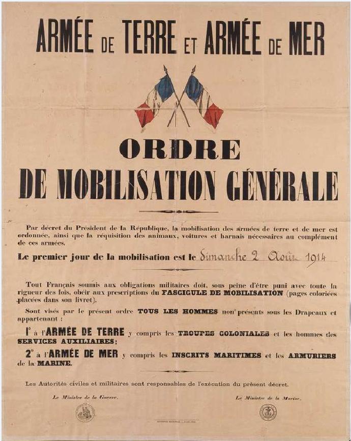 mobilisation 2 aout 1914