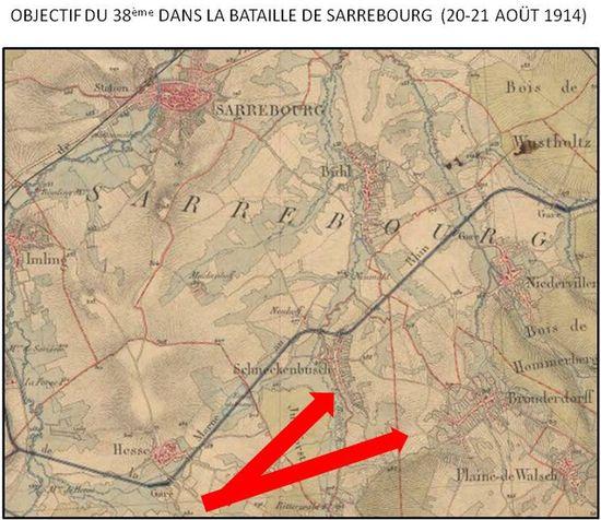 Sarrebourg doit être reprise aux Allemands au soir du 21 août 14
