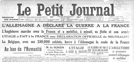 parution le 4 aout 1914